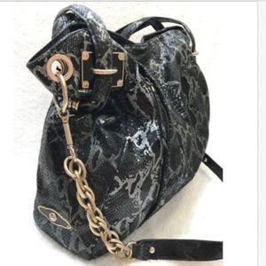 Elliott Lucca Bags - Elliott Lucca Snake Embossed Leather LARGESatchel